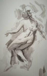 dessin au crayon graphite aquarelle